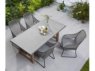 Gartentisch in Betonoptik - grau - Akazie - Tchibo