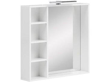 Schildmeyer-Badspiegel »SE730 Samu« inkl. Beleuchtung - Weiß - Holz - Tchibo