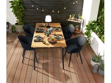 Ausziehbarer Gartentisch »Industrial« - schwarz - Tchibo