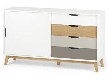 Sideboard mit Schiebetür - dunkelgrau - Holz - Tchibo