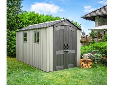 Lifetime-Kunststoff-Gerätehaus Garten - grau - Tchibo