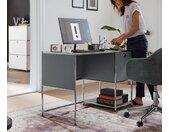Metall-Schreibtisch »CN3« mit Klapptür - chrom