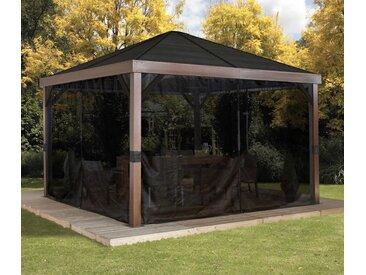 Sojag-Premium-Pavillon-Vorhang-Set  - grau - Tchibo