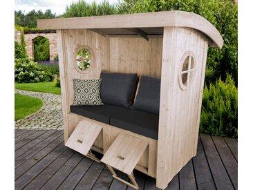 WEKA-Sitzlaube »Merano« - naturfarben - Holz - Tchibo