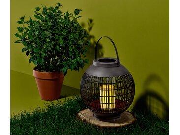 LED-Outdoor-Laterne - creme - Rattan - Tchibo