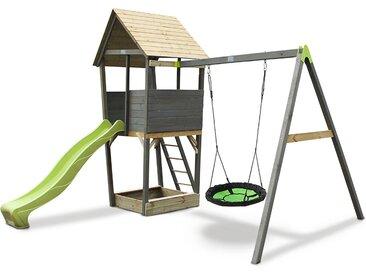 EXIT Spielturm mit Schaukel »Aksent« - braun - Kiefer - Tchibo