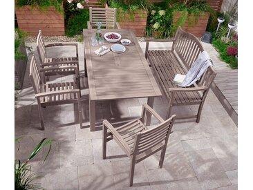 Ausziehbarer Gartentisch - Vintage Grey  - Massivholz - Tchibo