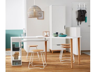 Variabler Tisch mit Stauraummodul - braun - Holz - Tchibo
