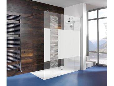 Breuer®-Dusche »Entra« Duschwand InStripe - silber - Tchibo