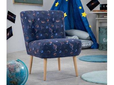 Max Winzer®-Kindersessel mit Galaxieprint »Fiona« - blau - Massivholz - Tchibo