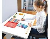 Pinolino höhenverstellbarer Kinderschreibtisch »Lena« - naturfarben - Massivholz