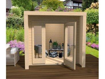 WEKA-Design-Gartenhaus mit großer Glasfront - braun - Tchibo