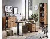 Schildmeyer elektrisch höhenverstellbarer Schreibtisch »2000 1600« - schwarz - Holz
