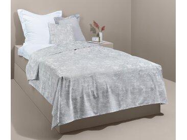 Premium-Samt-Bettüberwurf - silber - Tchibo