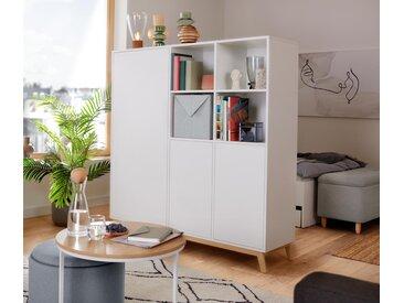 Raumteiler - weiß - Holz - Tchibo