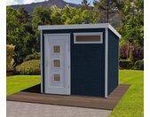 WEKA-Design-Gartenhaus »wekaLine« mit extrahoher Tür - anthrazit