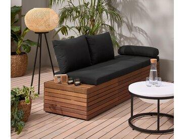2-in-1-Gartensofa - schwarz - Tchibo