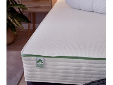 irisette® greenline-7-Zonen-Tonnentaschen-Federkernmatratze - Weiß - Tchibo