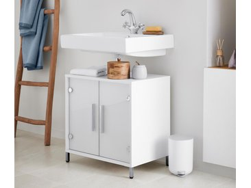 Waschbeckenunterschrank  - chrom - Holz - Tchibo