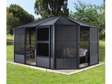 Sojag-Pavillon »Charleston« mit Stahldach und Türen - anthrazit - Tchibo