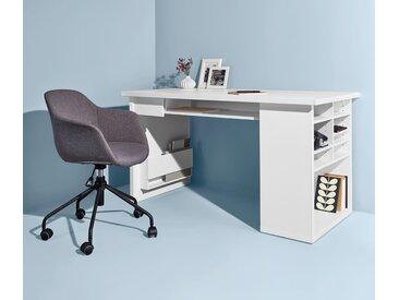Schreib- und Arbeitstisch - Weiß - Holz - Tchibo
