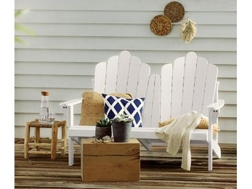 Loungebank aus FSC®-zertifiziertem Akazienholz - Weiß - Massivholz - Tchibo