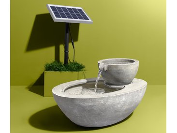 Solar-Gartenbrunnen - grau - Tchibo