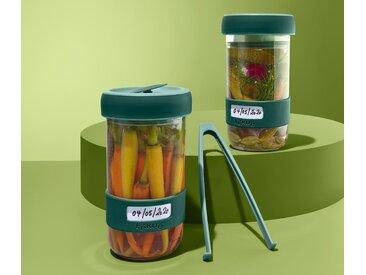 Lékué-Fermentations-Gläser-Set - dunkelgrün - Tchibo