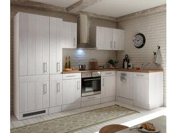respekta-Premium-L-Küchenblock »Landhaus« - silber - Edelstahl - Tchibo