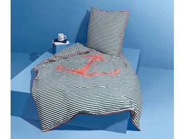 Renforcé-Wendebettwäsche - orange - 100% Baumwolle - Tchibo- Maße: 155 x 220 cm