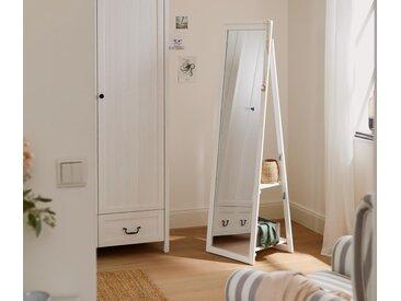 Standspiegel mit Hängefunktion - Weiß - Massivholz - Tchibo