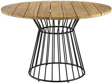 Runder Gartentisch aus massivem Teakholz für 4 Personen D120 Paola