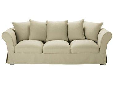 Baumwoll-Bezug für 4/5-Sitzer-Sofa, kittfarben Roma