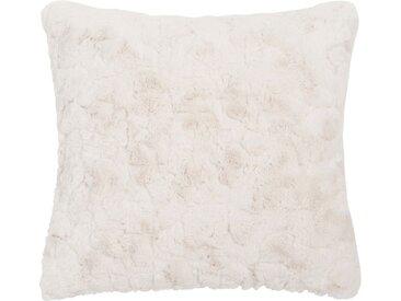 Kissen aus weißem Kunstfell 45x45