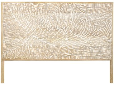 Kopfteil aus massivem geschnitztem Mangoholz B160 Boracay
