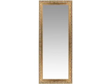Spiegel aus Paulownienholz, goldfarben, 59x145