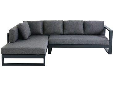 4-5-Sitzer-Gartenecksofa aus schwarzem Aluminium Thetis