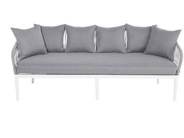 3-Sitzer-Gartensofa aus Schnurgeflecht, grau Endoume