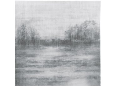 Leinwand Landschafts-Motiv, grau 120x120