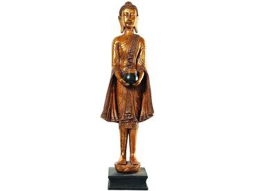 Stehende Buddha-Statue aus Kunstharz, H 142cm, golden