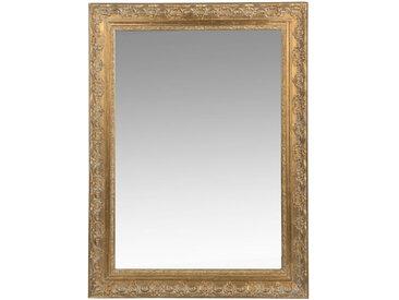 Spiegel aus Paulownienholz, goldfarben, 90x120