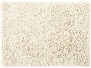 Teppich aus Wolle und Baumwolle in Ecru 140x200