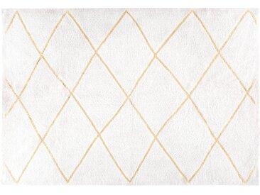 Berber-Baumwollteppich, ecru- und goldfarben, 160x230