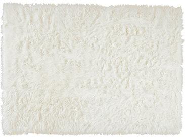 Teppich aus Kunstfell, weiß, 140 x 200