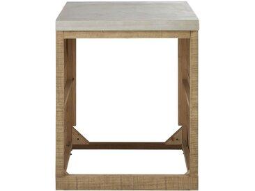 Küchenunterschrank für Geschirrspüler aus Fichtenholz und Beton Milos