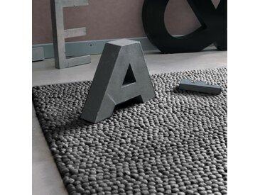 Wollteppich Industrial, 160 x 230cm, grau