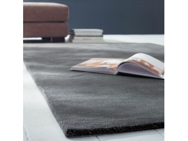 Kurzflorteppich SOFT aus Wolle, 160 x 230cm, anthrazit