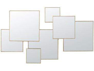 Spiegel aus Metall, goldfarben 120x72