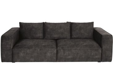 4-Sitzer-Sofa mit dunkelgrauem Samtbezug Barack