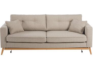 Skandinavisches Ausziehbares 3-Sitzer-Sofa, beige Brooke